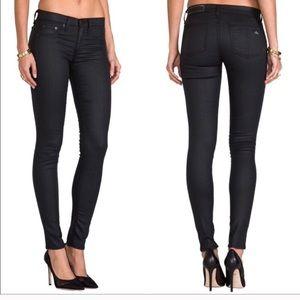 RAG & BONE Coated Black The Legging Skinny Jean